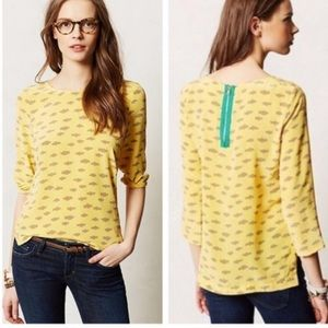 Anthropologie linosa meave cloud top blouse